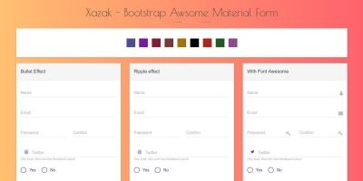 Xazak - Bootstrap Material Forms