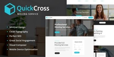 Quick Cross - Moving Service WordPress Theme