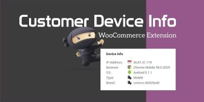 Customer Device Info - WooCommerce Plugin