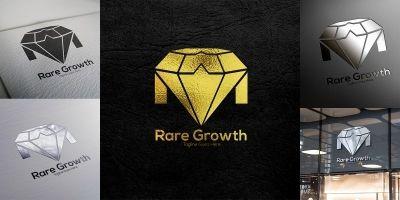 Rare Growth Logo Templete