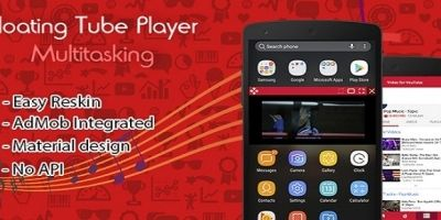 Floating App For Youtube Player - Android Template