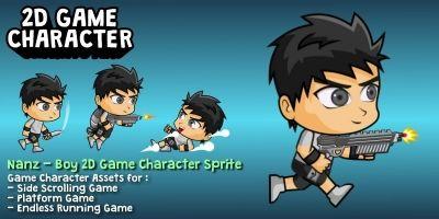 Nanz - Boy 2D Game Character Sprite
