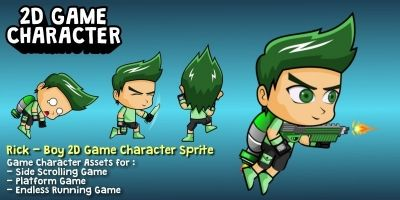 Rick - Boy 2D Game Character Sprite