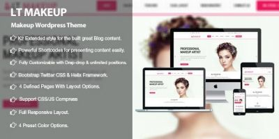 LT MakeUp - Beauty Salon WordPress Theme