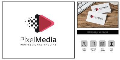 Pixel Media - Logo Template