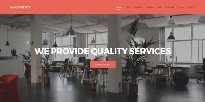 Syno Agency - One Page HTML5 Agency Template