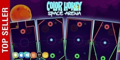 Color Hockey Space Arena - Complete Unity Project