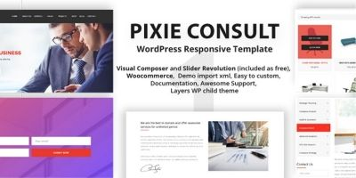 Pixie Consulting - WordPress Responsive Theme