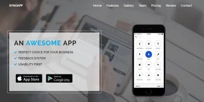 SynoApp - App landing Page Template