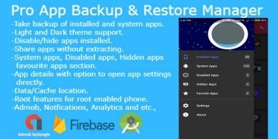 Pro App Backup - Android Source Code
