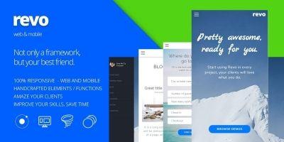 Revo - Ionic Web UI Kit