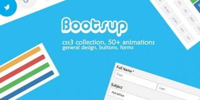 Bootsup - A CSS3 Collection of Buttons and Forms