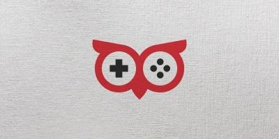Owl Gamer Logo Template