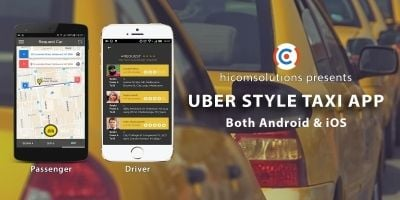 Uber Style Taxi App - iOS Source Code