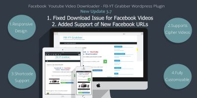 Facebook Youtube Video Downloader - WP Plugin