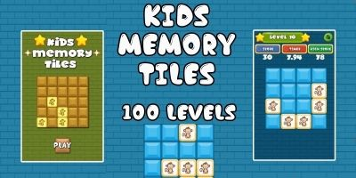 Kids Memory Tiles - Unity3D Source Code