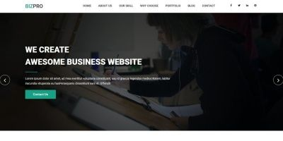 Bizpro - OnePage HTML Business Template