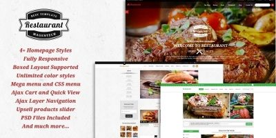 SM Restaurant - Ready-made design for Magento
