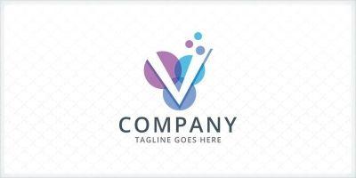 Letter V Bubble - Logo Template