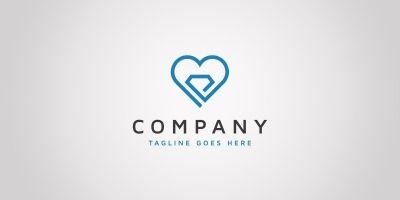 Heart Diamond - Logo Template