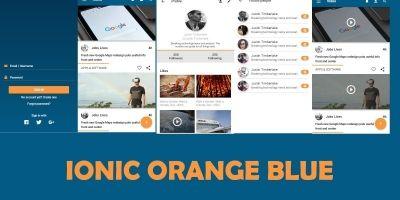 Ionic App Theme Blue Orange