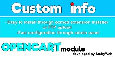 Custom Info - OpenCart Extension