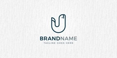Whale Letter - Logo Template