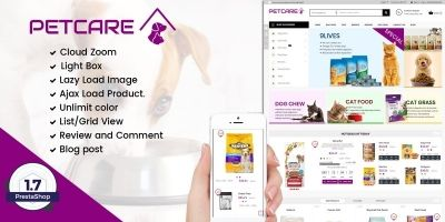 Pets and Animals Care Prestashop Theme