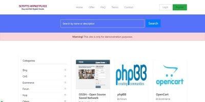 Script Marketplace - Digital Goods PHP Scirpt