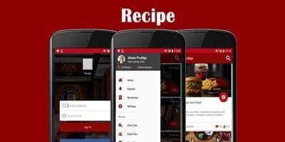 Recipe - Android Studio App UI Kit