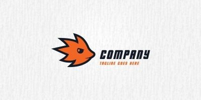 Fire Hedgehog - Logo Template