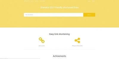 SEO friendly URL Shortener Script