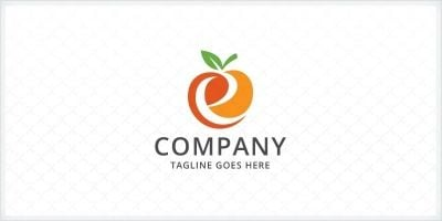 Letter E - Orange Logo