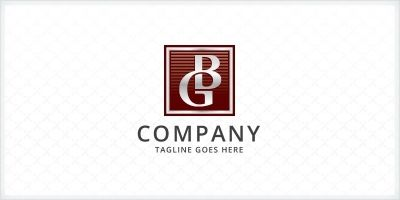 Letters BG or GB Logo
