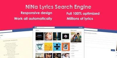 Lyrics Search Engine CMS PHP