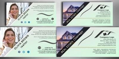 Simplicity Real Estate Business Card Template PSD