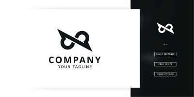 Infinity Line Logo Template