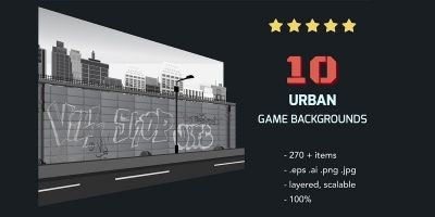 10 Urban Game Backgrounds