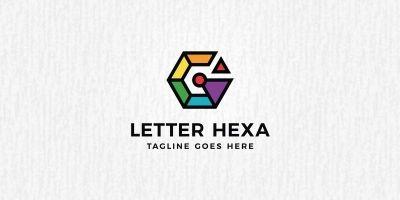 G Letter Hexagon Logo