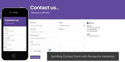 Symfony Contact Form with Recapcha Validation