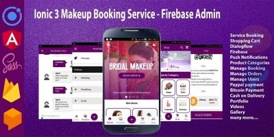 Ionic 3 Makeup Booking Service - Firebase Admin