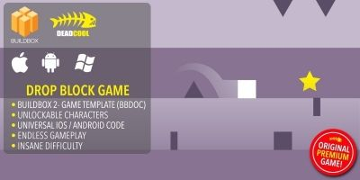 Drop Block - BuildBox Game Template