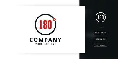 180 Degrees Logo Template
