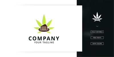 Leaf Cake Logo Template