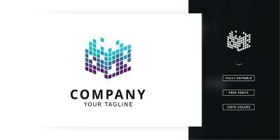 Pixel Cube Logo Template