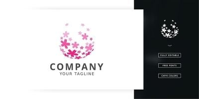 Sakura Splash Logo Template