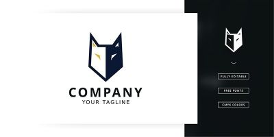 Strong Wolf Logo Template