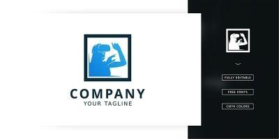 Virtual Box Logo Template