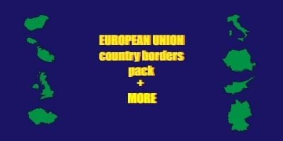 European Union Country Borders Pack