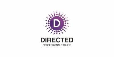 Directed Led D Letter Logo